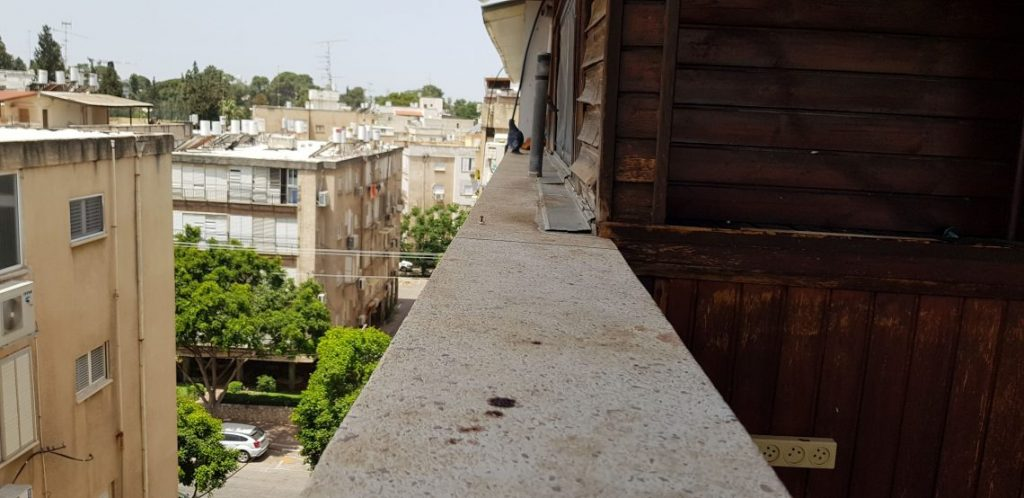 ניקוי חלון קקי של יונים www.nika-yon.co.il